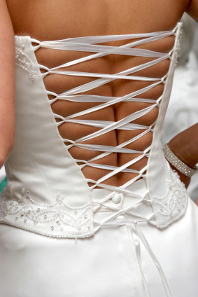 Bride's Back Wedding Gown Lacing