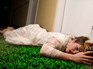 Drunk Bride Lying On Ground Tampa Bridal Shows